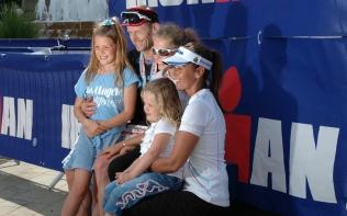 Tony and his family at the finish