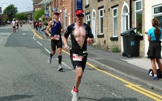 Dave Cullen on the run course