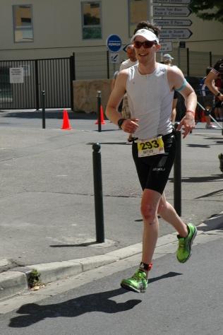 Matthew Whackett on the run course